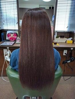ヘアースタジオ オハナ(Hair Studio Ohana)の写真/髪のパサつきやダメージで広がってしまう…そんなお悩みも解消します!毎朝のスタイリングも楽ちんに♪