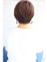 ハピネス クローバー 学園前店(Happiness CLOVER)★30代40代 エアリーミディショートパーマ黒髪ホワイトアッシュ