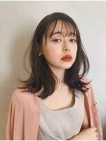 ガーデン アオヤマ(GARDEN aoyama)豊田楓 柔らかミディアム レイヤー 髪質改善 小顔 艶カラー