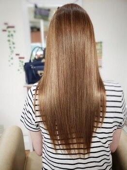 ルルスス 中庄店(rursus nakasyo)の写真/しっかりまっすぐ?自然な仕上がり?rursusなら髪質や好みに合わせて薬剤を選定☆思い通りの仕上がりに♪