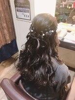 卒業式 袴&謝恩会ハーフアップ 髪でリボンを作りました☆