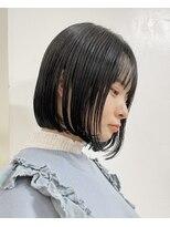 ミニボブショートボブ◎切りっぱなしボブ髪質改善トリートメント