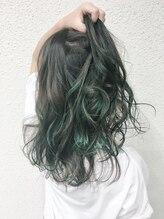 ヘアーラボ ルビー(Hairlabo RUBY.)グリーン×グレージュハイライト