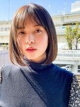 エアー ヨコハマ(air YOKOHAMA)20代30代40代【長谷川】大人可愛いシースルー前髪×束感ボブ