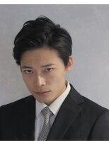 コンフィデンス メンズヘアー(confidence MEN'S HAIR)大人ミディアムオールバック風 七・三(アレンジ写真付き)