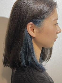 ヘアーサロン アールイー(Hair salon Re)の写真/話題のイルミナカラーやTHROWカラー、耳周りの印象を変えるイヤリングカラー等最高品質な薬剤をご用意◎