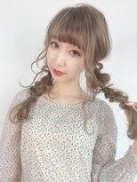 [韓国オルチャン風]ルーズツインテールリボンアレンジ☆