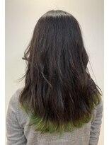 リゾーム デ リアン(Rhizome des liens)毛先に遊びをトーンアップカラー