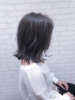 ヘアメイク シュシュ(Hair make chou chou)肩下ミディアム外ハネボブアッシュカラー【chou-chou 北林夏実】