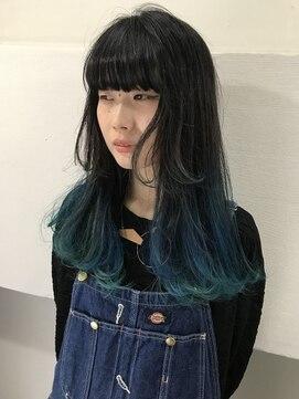 ヘアーメイクデザインパフ(HairMakeDesign Paf)ブルーグラデーション
