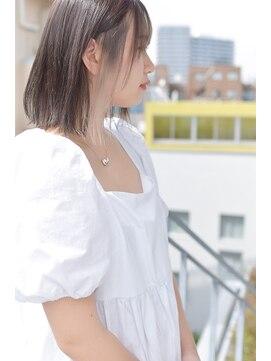 サイ(sai)【sai】フロントハイライト耳かけボブ