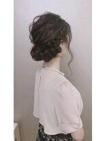 ピエドプールポッシュ(PiED DE POULE POCHE)* arrange hair * × シニヨン