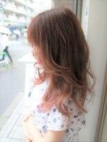 ヘアー ライズ(hair RISE)ペールピンクバレイヤージュマニキュア30代40代