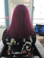 マーメイドヘアー(mermaid hair)ブリーチ→ワインレッド