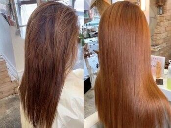ビューティー7 セブン(Beauty7)の写真/次世代縮毛矯正(高難易度縮毛矯正)は乾かすだけでサラサラストレート◎毎日がサロン帰りの様な仕上がりです