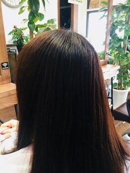 エージー ヘアー フジガオカ(A.G hair FUZIGAOKA)の写真/白髪をカバーするだけではなく綺麗に魅せる最適なカラーをご提案!!潤いを与え毛先まで艶やかな仕上がりに♪