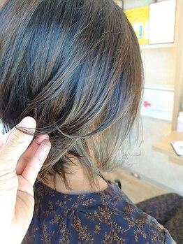 """グータン(GOUTAN)の写真/《ハイライト》《インナーカラー》でトレンドをON★""""豊富な薬剤×デザイン力""""で理想の髪色を手に入れて♪"""