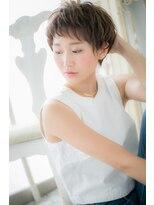 モッズ ヘア 福岡姪浜店(mod's hair)斜めバングの女らしさショート