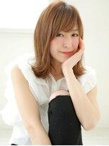 ショコラウメダ(Chocolat UMEDA)大人女性★ツヤ髪外ハネ★セミロング