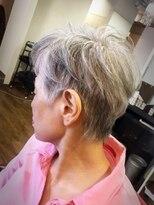60代70代 白髪を生かしたシニアショートヘア!!