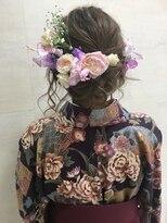 着物に合う!成人式☆卒業式☆生花セットスタイル