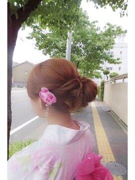花火大会&夏祭り浴衣髪型 ヘアアレンジ(シニヨン)