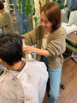 コムチュヴ(Comme tu veux)の写真/歴10年以上のハイキャリア女性スタイリスト在籍◆細やかな気配りとオージュアTrで癒されながら美しい髪に。
