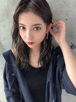 アフロート ルヴア 新宿(AFLOAT RUVUA)こ慣れ感満載の透明感ある美髪ミディアム☆#ネイビーカラー