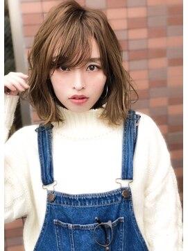 アグ ヘアー リル 志木店(Agu hair lilou)《Agu hair lilou》小顔かわいいシースルーバングゆるふわミディ