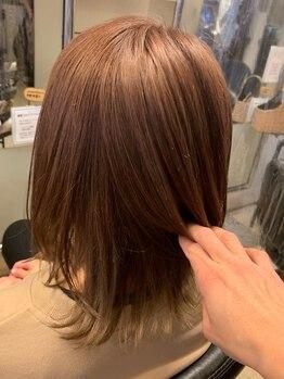 ラピス オーガニック 南一の沢店(LAPIS.sct)の写真/敏感肌の方にも安心な天然成分のオーガニックカラーが嬉しい◎こだわりのツヤ感あふれる美髪に♪