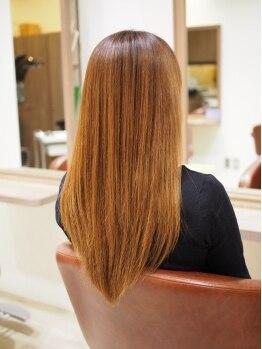 ヘアーサロン シエル(haira salon ciel)の写真/髪への負担が本当に少なく、通常の縮毛矯正よりもリッチな質感であなたの「綺麗」が長く続く♪