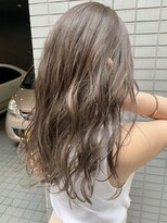 ギフヘアー 梅田茶屋町店(gif.hair)#透け感ミルクティー #ブリーチなし #セミウェット