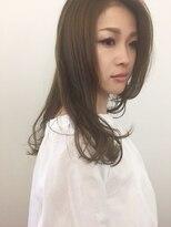 エムズヘアー(M's Hair)ワンレンロングナチュラルパーマ