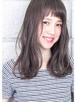 ヘアサロン ガリカ 表参道(hair salon Gallica)☆ ツヤ × グレージュ ☆ オン眉斜めバング ひし形シルエット☆