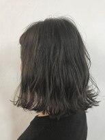 ヘアーアンドメイク ルシア 梅田茶屋町店(hair and make lucia)ダークグレージュ×切りっぱなしボブ