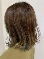 ヘアサロン ロータス(Hair Salon Lotus)Hair salon Lotus チラ見せインナーカラー ミントブルー