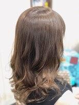 カイナル 関内店(hair design kainalu by kahuna)ドライヴカット×シークレットハイライト