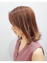 エイム ヘアメイク 横川店(eim HAIR MAKE)ライトベージュがかわいい☆外はねミディボブ