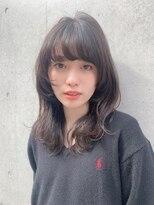 マグノリア オモテサンドウ(MAGNOLiA Omotesando)顔まわりが可愛い◎Sカールで作るエアリーミディ・・・HINATA
