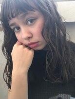 ソーコ(SOCO)【SOCO】ゆるふわロングモテ髪パーマシースルーバング薄めバング