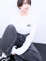 ドロップ(drop)黒髪シンプルショートヘアスタイル[表参道drop]