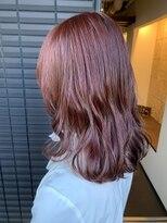 ノル(nol hair&spa)ブリーチなしピンクブラウン