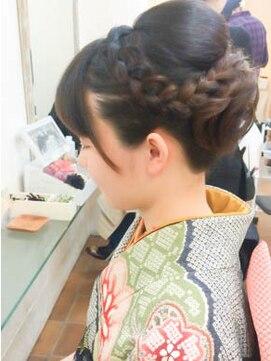 成人式におすすめの髪型|黒髪/前髪なし/清楚/シンプル/かわいい