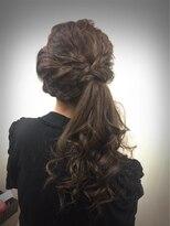 ヘアセットサロン アトリエ チャイ(Hair set salon atelier CHAI)あみあみサイドアップ