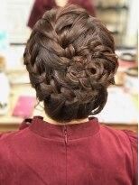 ヘアセットサロン アトリエ チャイ(Hair set salon atelier CHAI)ざっくり編み!フラワーアップ