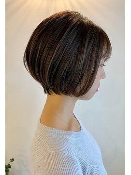 ベックヘアサロン 広尾店(BEKKU hair salon)フォギーベージュ☆ショートボブ