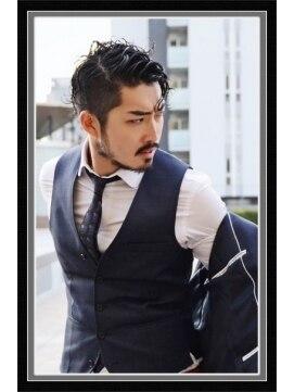 ビーフォーユー 九条店(B4U) 【b4u hair】メンズクールセレブ風ヘアー