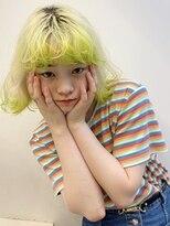 シャチュー(SHACHU)【MORIYOSHI】ホワイトブロンド×ライムカラー