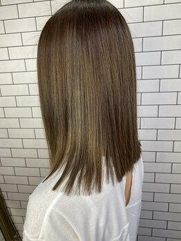 ルーナヘアー(LUNA hair)の写真/憧れのサラ艶ストレート♪ダメージは最小限に、自然で柔らかな仕上がりに◎自分の髪がもっと好きになる☆