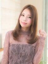 オーブ ヘアー アクネ 長岡京店(AUBE HAIR acne)センターパートがオシャレ★ストレートスタイル
